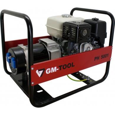 GM-Tool PH5001 Benzine Open Enkelfase Aggregaat / Generator 4300 Watt