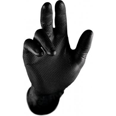 GRIPSTER Nitril Handschoenen met Grip - Zwart - 10 stuks