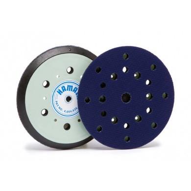 """HAMACH Velcro Steunpad 150mm HARD met 8+6+1 gaten voor schuurmachine met 5/16"""" aansluiting"""