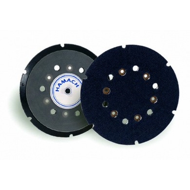 HAMACH Velcro Steunpad 150mm met 6 gaten voor schuurmachine zonder as