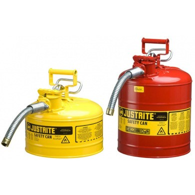 JUSTRITE AccuFlow Steel Safety Can with Trigger