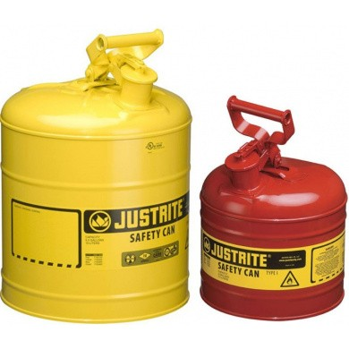 JUSTRITE Steel Safety Can - Leak-free