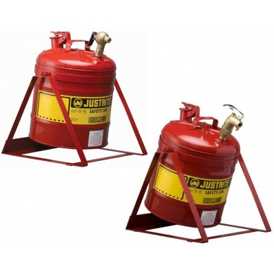 JUSTRITE Steel Safety Tilt Cans 19 ltr with Faucet