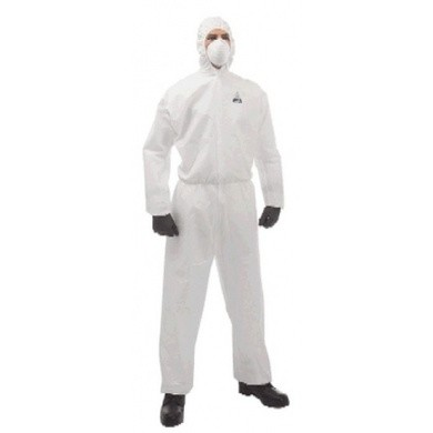 Kimberly-Clark KLEENGUARD Liquid & Particle Protection Coverall - Hooded / White A30
