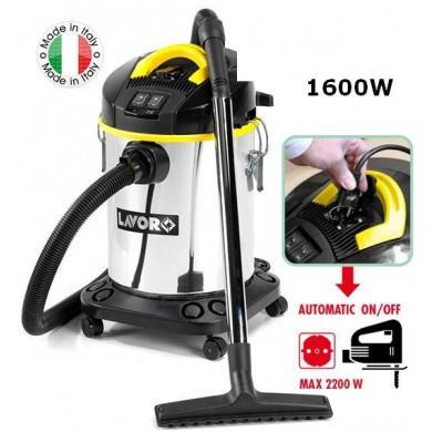 Lavor Venti XE Stof- & Waterzuiger met inox ketel, stopcontact & schakelautomaat 1600 Watt