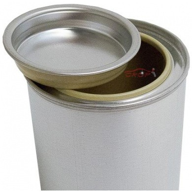 Empty Coated Paint-Can with Lid for Water-Based Laquers - 125ml