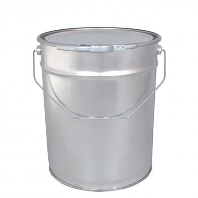 Leeg Verfblik 10 liter met hengsel, deksel en spanring