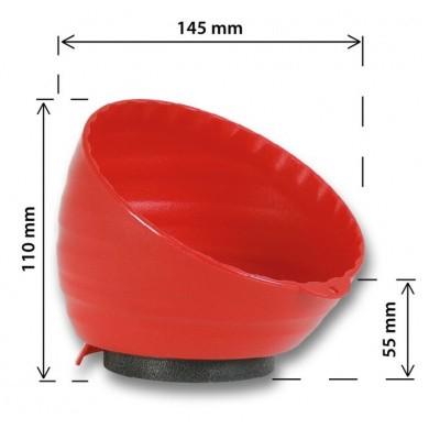 Magneetbakje Kunststof Zwart 148mm