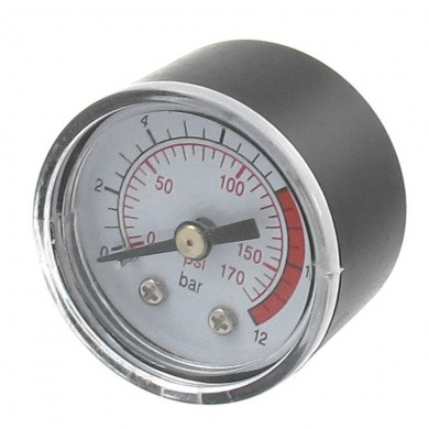"Analogue Pressure Gauge Ø 40 mm 0-12 Bar with 1/8"" Back Connection"