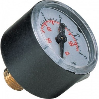 "Analogue Pressure Gauge Ø 40 mm 0-6 Bar with 1/4"" Back Connection"