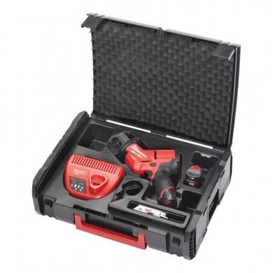 Milwaukee M12-CHZ-202X Accu Reciprozaag in koffer + accessoires & toebehoren