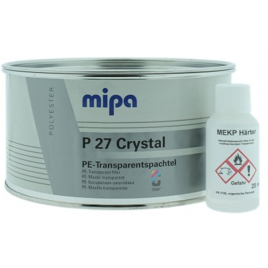 MIPA P27 Crystal Carbon 2K Spachtel + Härter