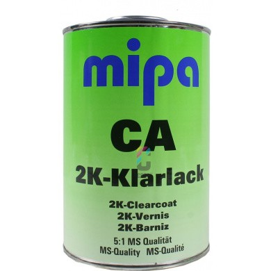 MIPA 2K Clear Coat CA with UV Protection for direct application on non-ferrous metals 1 litre