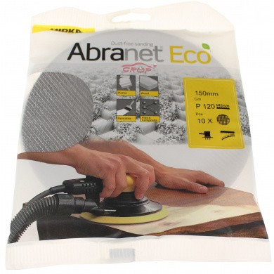MIRKA ABRANET Eco Sanding Discs - 150mm, 10 pieces, Small Package
