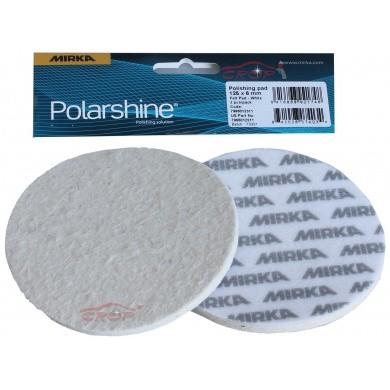 MIRKA Witte Velcro Polijstschijf Vilt 6mm voor MIRKA Glass Polishing Kit / 2 stuks