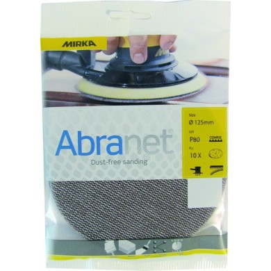 MIRKA ABRANET Eco Sanding Discs - 125mm, 10 pieces, Small Package