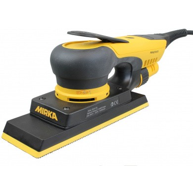 MIRKA DEOS383CV Electric Orbital Sander 70x198mm with integral dust extraction system and integrated vibration sensor and Bluetooth connectivity