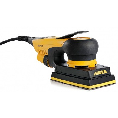 MIRKA DEOS 353CV Electric Orbital Sander 81x133mm with integral dust extraction system, integrated vibration sensor and Bluetooth connectivity