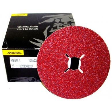 MIRKA Fibre Discs - 125mm, 25 pieces