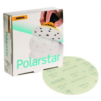 MIRKA POLARSTAR Micro Sanding Discs without Holes - 150mm, 50 pieces