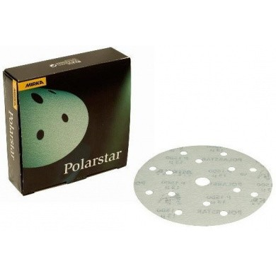 MIRKA POLARSTAR Micro Sanding Discs with 15 Holes - 150mm, 50 pieces