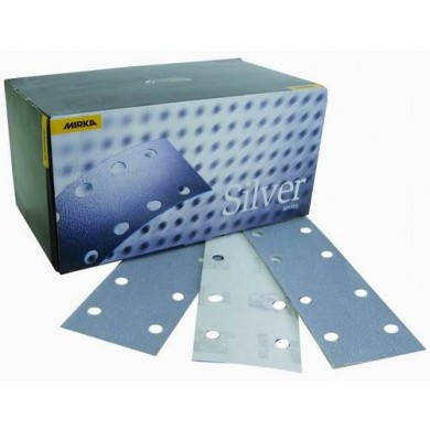 MIRKA Q-SILVER Sanding Sheets with 8 Holes - 70x198mm, 100 pieces