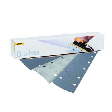 MIRKA Q-SILVER Sanding Sheets with 14 Holes - 70x420mm, 100 pieces