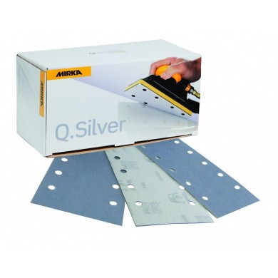 MIRKA Q-SILVER Sanding Sheets with 8 Holes - 81x153mm, 100 pieces