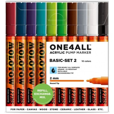 MOLOTOW One4All 127HS Premium Acrylic Marker 2mm BASIC-SET 2