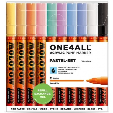MOLOTOW One4All 127HS Premium Acrylic Marker 2mm PASTEL-SET