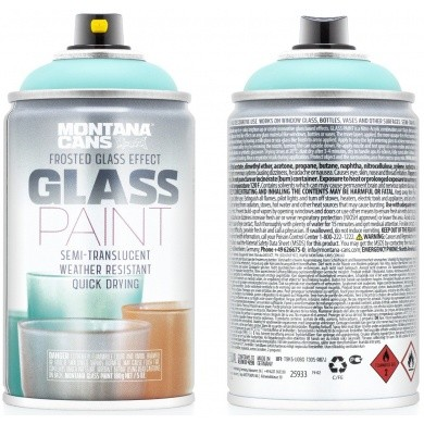 MONTANA Glass Paint Spraydose Glasfarbe ART - SEMITRANSPARENT