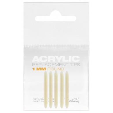 Montana ACRYLIC Round Vervangingstips 1mm / 5 stuks
