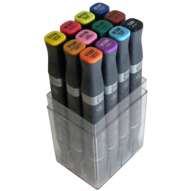MONTANA Alpha Design Twin Markers - Colour Basic, 12 pieces