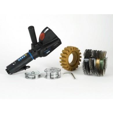 MONTI MBX Metal Blaster Slijper Pneumatisch Heavy-Duty (PHD) SET incl. 4 Borstelbanden en Caramelschijf