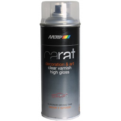 MOTIP CARAT Deco Spray Clear Varnish High Gloss 400ml