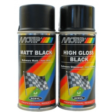 MoTip Black Paint in Aerosol 150ml