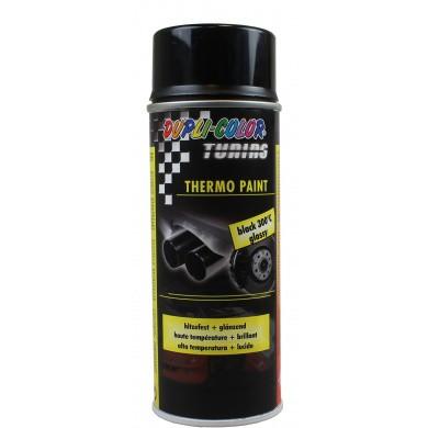Dupli-Color Thermo Paint Heat-Resistant Black High Gloss 300ºC in 400ml Aerosol