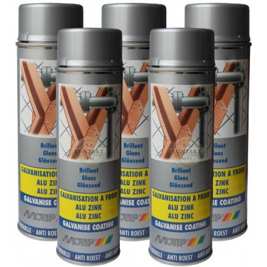MOTIP Industrial Alu-Zinc Spray in 500ml Aerosol