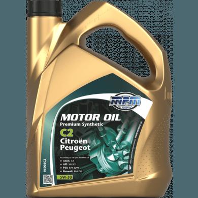 MPM Motorolie 5w30 Premium Synthetic C2 CITROËN + PEUGEOT - 5 liter