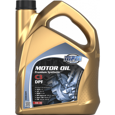 MPM Motorolie 5w30 Premium Synthetic C3 DPF - 5 liter
