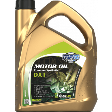 MPM Motorolie 5w30 Premium Synthetic DX1 - 5 liter