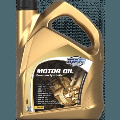 MPM Motorolie 5w40 Premium Synthetic - 5 liter