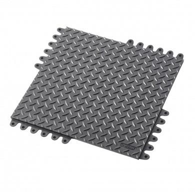 NOTRAX De-Flex 570 Modular Anti-Fatigue Mat 45x45cm with diamond plate motif