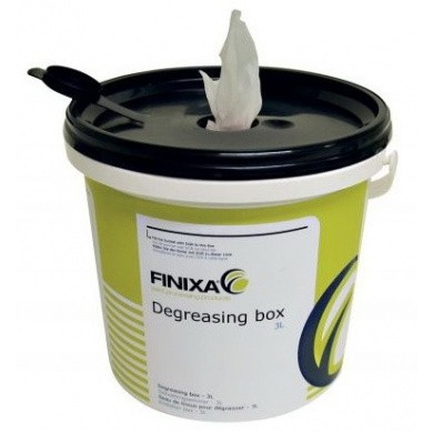 Degreasing Dispenser Bucket with 100 Degreasing Cloths
