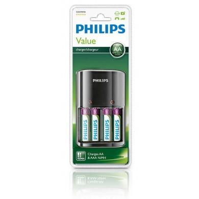 PHILIPS MultiLife Batterijlader incl 4x LR6  AA  Mignon  Penlite 2100 mAh Oplaadbare NiMH Batterijen