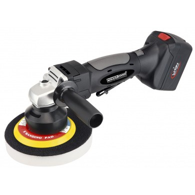 POWERHAND 125/150mm Cordless Random Orbit Polisher 18V Li-Ion with variable speed and case