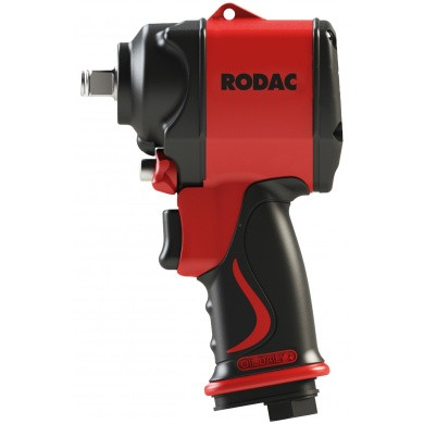 "RODAC RC2751BC Slagmoersleutel 1/2"" Stubby Twin Hammer + GRATIS Koffer"