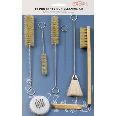 Cleaning Brush Kit for Paint Spray Guns - 12 pieces