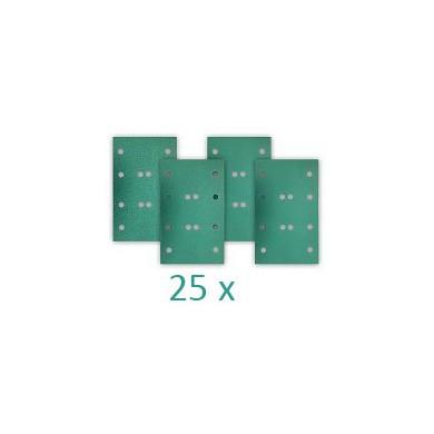 RUPES HQ400 Polyester Schuurstroken 80x130mm met 12 gaten - 25 stuks