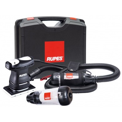 RUPES LE71T and LE71TE Mini Flat Sander with Dust Extraction -  2 meter Hose, Belt Holder and Additional Venturi, 80x130mm